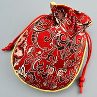 Thicken Cotton Filled pequeno Silk Brocade saco de cordão presente de jóias embalagens Wedding Party Trinket Artesanato Bolsa de armazenamento sacos do favor