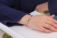 2017 chaud cadeau usine prix 925 bracelet de charme en argent Fine Noble maille Dolphin bracelet Fille / Madame bijoux de mode 20 pcs / lot