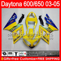 8 Gifts 23 Colors For Triumph Daytona 600 650 03 04 05 Dayto...