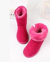 Ücretsiz kargo YENI 2018 Yüksek Kalite Erkek ve kız WGG kadın Klasik uzun Çizmeler Womens çizmeler Boot Kar Kış çizmeler deri çizme EUR 22 ---