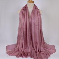 conception populaire en lin doux soie châles printemps hijab grande taille printemps bandeau musulman wrap écharpes / écharpe 180 * 110cm