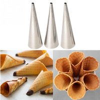 3pcs Stainless Steel Spiral Baked Croissants DIY Horn Tube B...