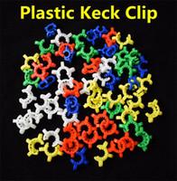10 mm 14 mm 19 mm taille des joints en plastique Keck Couleur clip en plastique Keck de laboratoire Lab Pince clip pour verre adaptateur en verre Bong