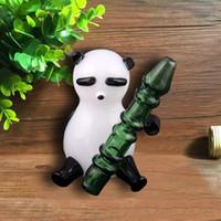 Panda-Stil Glas Handpfeife Erstaunliche Aussicht Raucher Right-Tabakbrenner 11 cm Höhe