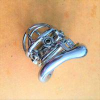 Cintura per castità in acciaio inossidabile da uomo in acciaio inossidabile con fibbia a forma di pene con viti 6pcs e una chiave inglese
