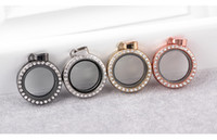 Fashion 25MM Round Living Memory locket high quality white c...