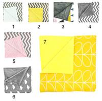 Ins neue Baby Chevron Minky Decken Infant Welle Striped Swaddle Wrap Neugeborenen Swaddling Fashion Kinderwagen Handbuch Decke Kindergarten Bettwäsche
