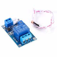 10st / Massor Freeshipping 12V Light Control Switch Photoresistor Relay Module Light Detection Sensor