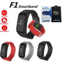Smartband ضغط الدم f1 الذكية اسوارة القلب رصد معدل ماء الذكية الفرقة fitnesstracker fitbit ل andriod ios مع مربع