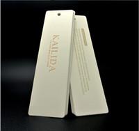 Custom Kraft Cards Material Hang Tag 350GSM Pappersutskrift Die Cut Shape Högkvalitativ Wrapping Swing