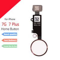 Para el iphone 7 7plus casero de la flexión del botón Botón de huellas dactilares Las piezas de repuesto cable flexible para el iPhone 6 6splus