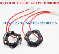 10 PZ H7 LED Kit di conversione del faro Bulb Base Holder Adattatore Fermo Clip per Volkswagen VW Golf 5 JETTA Fit HID Halogen Converter