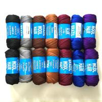합성 Braiding 브라질 양모 머리 Crochet Braids Twist 낮은 Temprature 불꽃 난연 섬유 합성 머리 확장 70g 23M