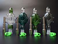 Juego de colgantes NC Perc con tubos de fumar de vidrio usable de uñas de titanio de 14 mm Bongs de vidrio plataforma petrolera refrigerado por agua y a prueba de derrames