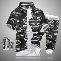 Wholesale- 2016 Spring New Camouflage Tracksuit Men Stand Col...