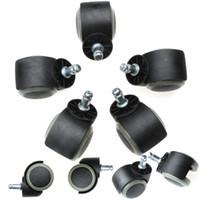 5 pcs heavy duty black u0026 brown plastic caster 50mm spring swivel wheels trolley furniture caster rubber