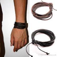 Bracelets en cuir de mode de mode rétro tissage tressé bijoux de corde tressé accessoires Syeer C00065 Fash