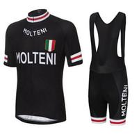 Molteni Team 2021 Jersey Cycling Ensemble / Kit à manches courtes Vêtements de cyclisme Vélos VTT Jersey Short Jersey Set Style Summer Style Vélos Vêtements de sport D1