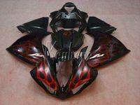 100% apto para carenados de molde de inyección Yamaha YZF R1 09 10 11 12 13 14 kit de carenado rojo llamas rojas YZFR1 2009-2014 OR13