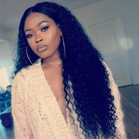 Lace Front Curly Wigs 130- 180% Density Swiss Lace Hand Tied ...