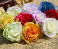 Fai da te Rose Capolini artificiali Bouquet da sposa Seta Fiore Arco nuziale Accessori per la composizione di fiori 8.5 cm 100 pz / lotto G629