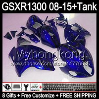 gloss blue 8gifts For SUZUKI Hayabusa GSXR1300 08 15 GSXR- 13...