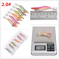 Luminous wooden shrimp squid lure 2# fishing hooks 8cm 5. 5g ...