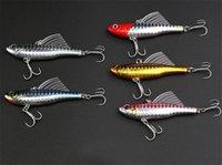 Высокая доставленных воблер плавание имитация плавников рыбы карандаш воблеры приманки крючки 7 см 18 Г 5 цветов литья лазерные искусственные приманки