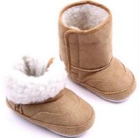 طفل شتاء أحذية أطفال أحذية الوليد الرضع طفل أول ووكر الدافئة الفتيات الفتيان لينة وحيد المضادة للانزلاق prewalker الطفل الأحذية الغنائم G1111