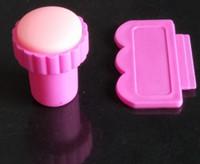 20pcs DIY Stamping Nail Art Stamper + Raspador para las puntas de las uñas Plantillas de arte de la uña rosa de la belleza