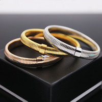 316L Stainless steel snake style Bangle for man and women je...