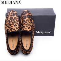 New Handmade Leopard Men Red Bottom Mocassini Gentleman Luxury Fashion Stress Scarpe Partito paillettes scarpe da uomo scarpe casual