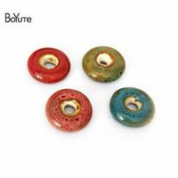 Boyute бисер (20 шт./Лот) 14 мм 6 цветов свободные бусины старинные фарфор керамические бусины ювелирных изделий
