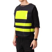 سترة عاكسة ملابس العمل تحذير السلامة الصدرية يوفر وضوح عالية يوم ليلة لوازم العمل في مكان