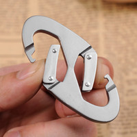 8 Shape Mountaineering Hook Ring Locking Carabiner Screw Loc...