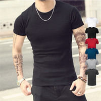 Fashion Design Brand New tinta unita T Shirt uomo Sex Tops Classico Tees 6 colori 5 Taglia Camicie T-shirt stampata stile casual TX95 RF