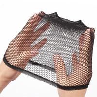 Moda Gerdirilebilir Örgü Peruk Kap, Örgü Dokuma Siyah Sarışın Renk Peruk Saç Net Saç Modelleri Yapma Caps