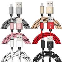 Tipo de tela thiicker Tipo C Cable Nylon trenzado Micro V8 5Pin Cables USB para Samsung Galaxy S3 S4 S6 S7 S8 Plus Android Teléfono