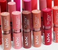 NYX Butter Lippenstift 12 Farben Batom Mate Wasserdicht Langlebiger Lippenstift Nyx Tint Lipgloss Stick Marke Makeup Maquillage