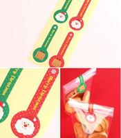 크리스마스 산타 클로스 순록 무료 사탕 롤리팝 모양 씰링 스티커 선물 포장 스티커 스티커 파티 호의 포장 선물