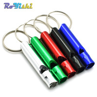 알루미늄 캠핑 생존 휘슬 키 펜던트 세련된 키 체인 열쇠 고리