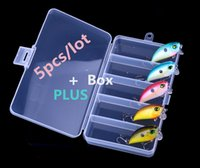 5pcs of Topwater Fishing Lure Hard Artificial Bait and 1 Fis...