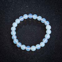 8mm Natural Crystal Moonstone Strands Braccialetti perline Braccialetti Donne Girl Girl Men Gioielli regolabili Yoga Accessori moda Abbigliamento