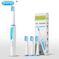 Borui Sıcak Satış Pil başka fırçalar Ağız Hijyeni Sağlık Ürünleri kafa 4 Fırça Başkanları ve 4 ile Elektrik Diş Fırçası İşletilen
