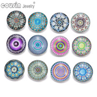 KZ0334 12pcs lot Mixed Colors Exotic 18mm Snap Button Jewelr...