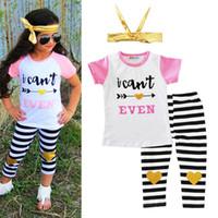 HUG ME Summer Baby 3 pezzi Set di abbigliamento neonato T-shirt manica  corta Tops d711945fdc7