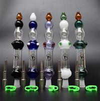 DHL 14mm Mini Pipes en verre Nectar Collector Kit 2.0 concentré tuyau avec clou en titane embout en plastique Keck clip pour verre Bong
