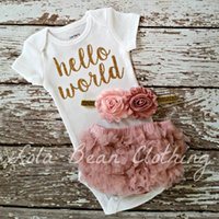 2017 ins new arrivlas baby girl hello world letter print tom...