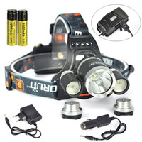 Black Color BORUiT 13000LM 3x XML T6+ 2R5 LED Headlamp Headli...