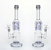Real Images Purple Glass Bongs dab rig perc two fuction recy...